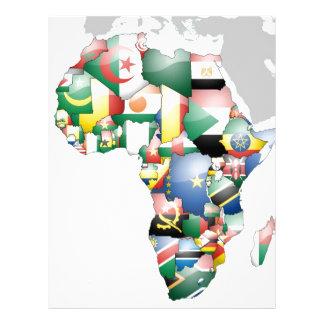 Mamá hermosa África del hola de Jambo Habari Plantillas De Membrete