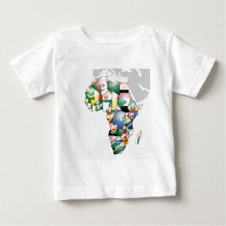 Mamá hermosa África del hola de Jambo Habari Playera De Bebé