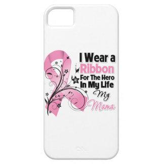 Mamá Hero en mi cáncer de pecho de la vida Funda Para iPhone 5 Barely There