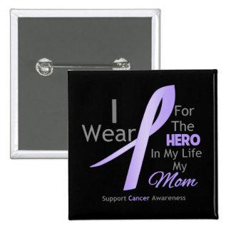 Mamá - héroe en mi vida - general Cancer Pins
