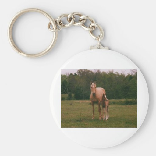 Mama horse and baby horse key chain
