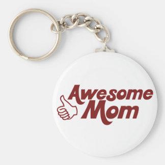 Mamá impresionante para el día de madres llaveros personalizados