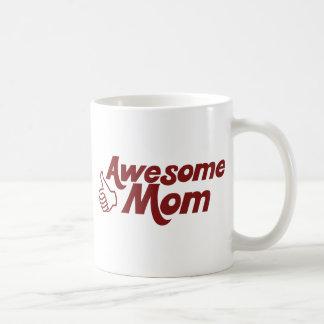 Mamá impresionante para el día de madres taza de café