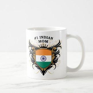 Mamá india del número uno taza clásica