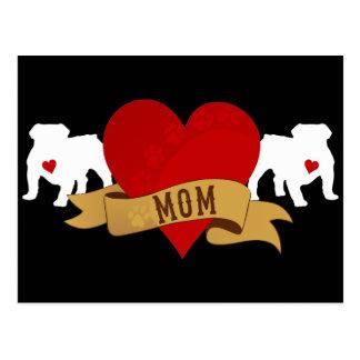 Mamá inglesa del dogo [estilo del tatuaje] tarjeta postal