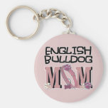 MAMÁ inglesa del dogo Llaveros Personalizados