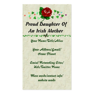 Mamá irlandesa tarjetas de visita