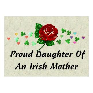Mamá irlandesa tarjetas de visita grandes