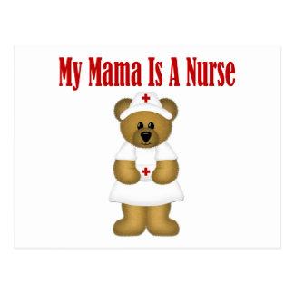 Mama Is A Nurse Bear Postcard