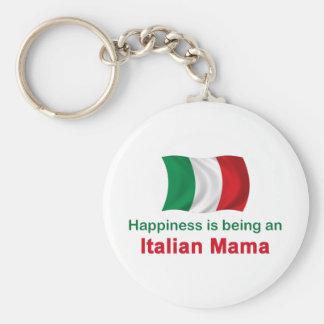 Mamá italiana feliz llavero redondo tipo pin