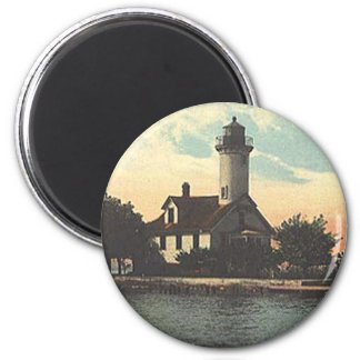 Mama Juda Lighthouse 2 Inch Round Magnet