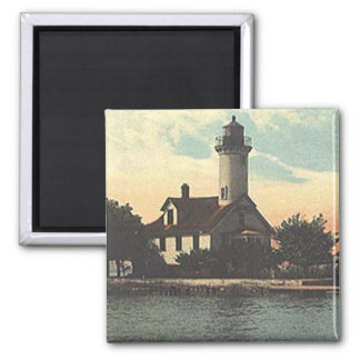 Mama Juda Lighthouse 2 Inch Square Magnet