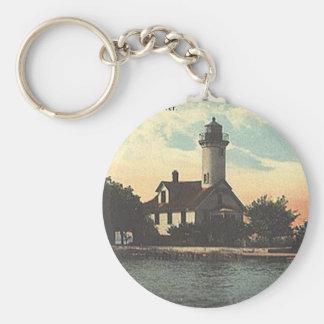Mama Juda Lighthouse Basic Round Button Keychain