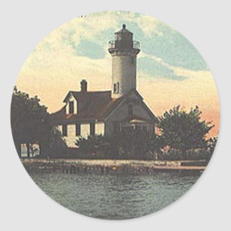 Mama Juda Lighthouse Classic Round Sticker