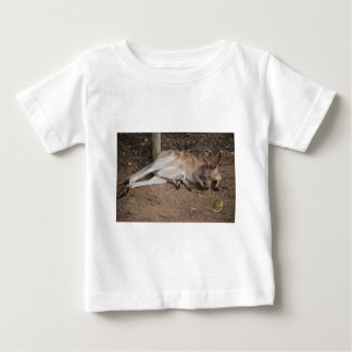 Mama Kangaroo with Joey in Pouch Baby T-Shirt