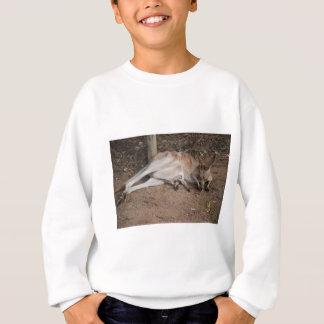 Mama Kangaroo with Joey in Pouch Sweatshirt