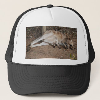 Mama Kangaroo with Joey in Pouch Trucker Hat