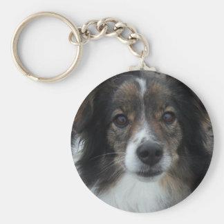 Mama Basic Round Button Keychain
