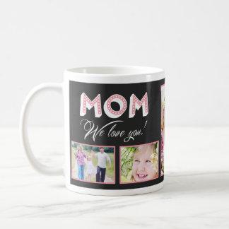 ¡Mamá le amamos! Taza de encargo de la foto