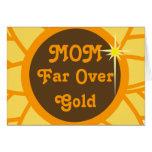 Mamá lejos sobre Oro-Personalizar Tarjetas