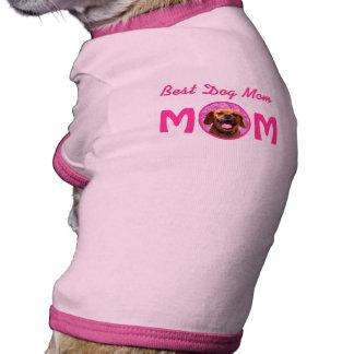 Mamá linda del perro de Puggle Camiseta Con Mangas Para Perro