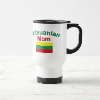 Mamá lituana taza de viaje