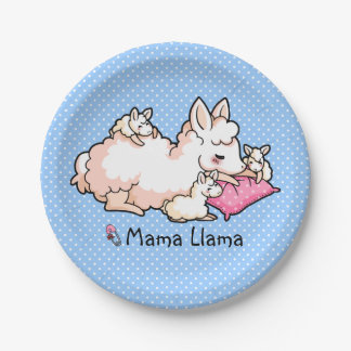 Mama Llama 7 Inch Paper Plate