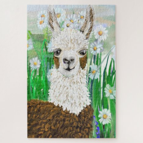 Mama Llama and Daisies