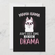 Mama  llama drama gift thank you card