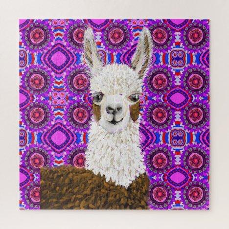 Mama Llama Living In Purple