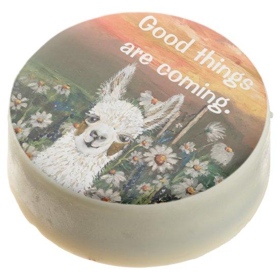 Mama Llama Personalize Text White Chocolate Oreos