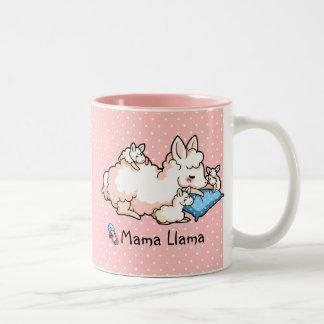 Mama Llama Two-Tone Coffee Mug