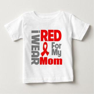 Mamá - llevo la cinta roja playera de bebé