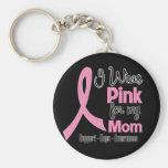 Mamá - llevo rosa - cáncer de pecho llavero personalizado