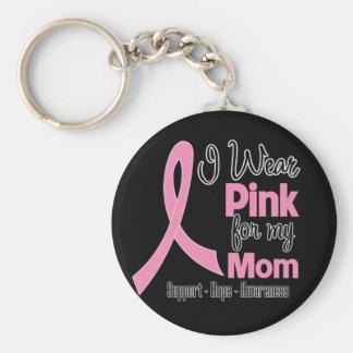 Mamá - llevo rosa - cáncer de pecho llavero redondo tipo pin
