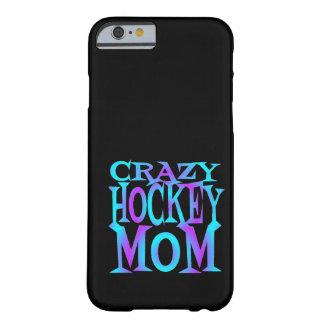 Mamá loca del hockey funda para iPhone 6 barely there