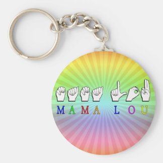 MAMA LOU KEY CHAIN FINGERSPELLED ASL SIGN NAME