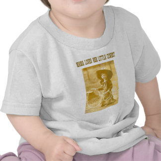 Mama Loves Her Little Cowboy Baby T-Shirt or Creep