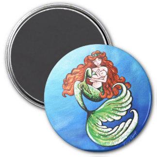 Mamá Magnet de la sirena Imán Redondo 7 Cm