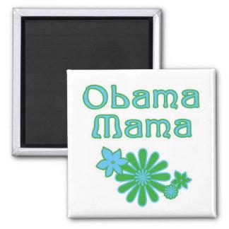 Mamá Magnet de Obama Imán Cuadrado