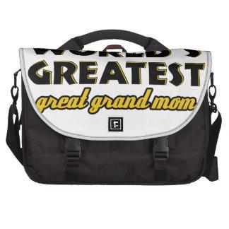 Mamá magnífica más grande del mundo la gran bolsas de portatil