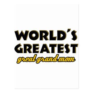 Mamá magnífica más grande del mundo la gran postales