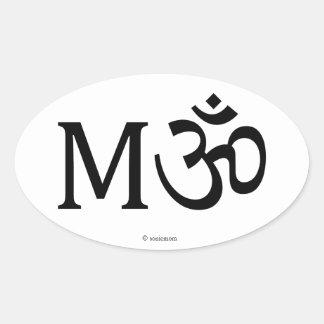 MAMA, mamá de la yoga, pegatina oval
