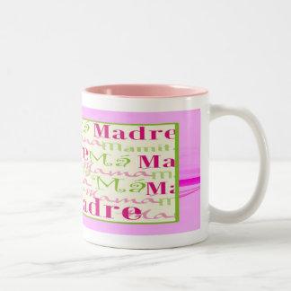 Mama/Mamacita Two-Tone Pink & Green Mug