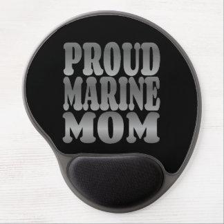 Mamá marina orgullosa en plata alfombrilla gel