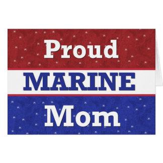 - Mamá marina orgullosa - pensamiento militar en Tarjeta De Felicitación