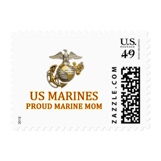 Mamá marina orgullosa sello postal