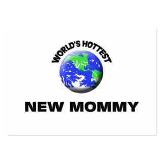 Mamá más caliente del mundo la nueva plantilla de tarjeta de visita