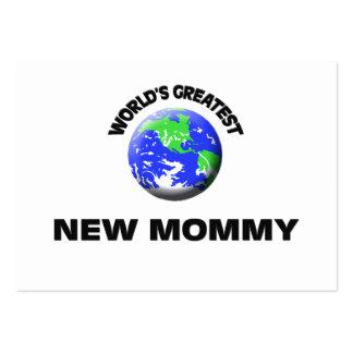 Mamá más grande del mundo la nueva plantillas de tarjetas de visita