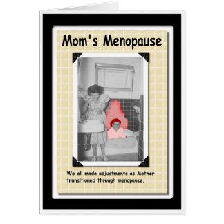Mamá menopáusica tarjeta de felicitación